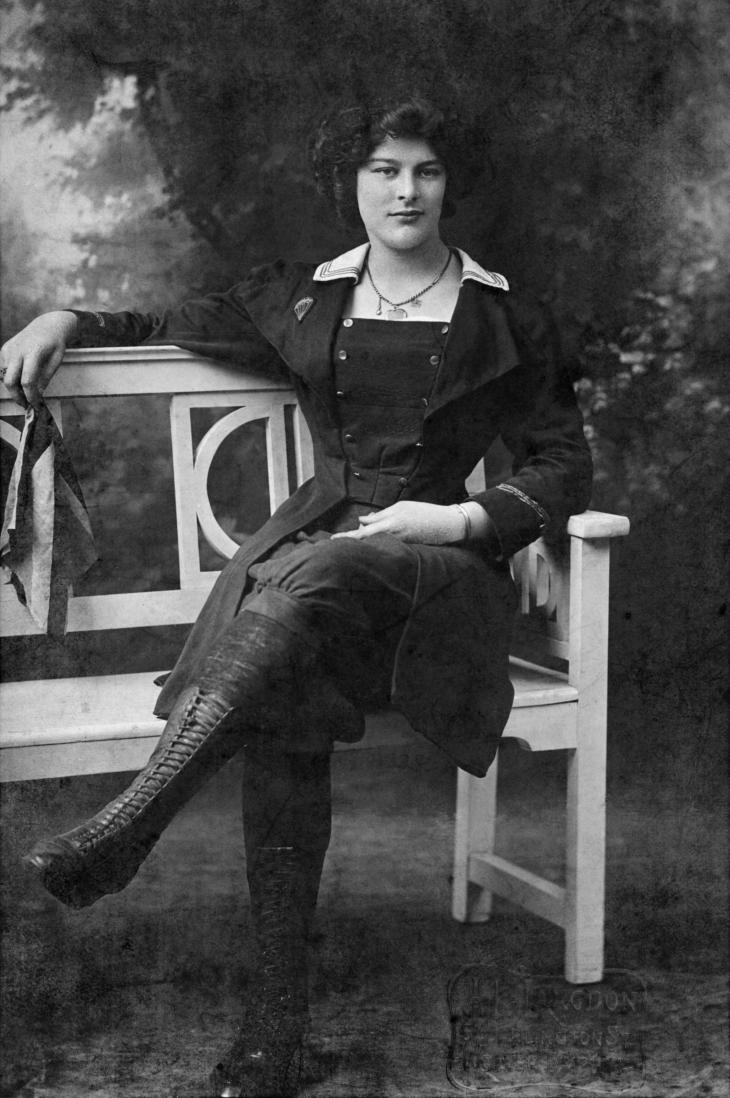 Dolly Shepherd, who was 31 when the Armistice was declared