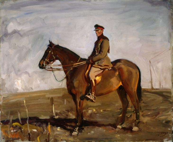 Major General The Right Honourable J.E.B. Seely, by Alfred Munnings, courtesy of the Canadian War Museum