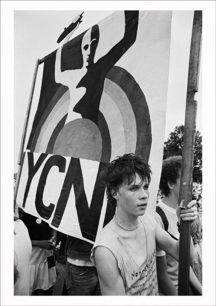CND march and rally, Hyde Park, London, 1982 . Image © Edward Barber.