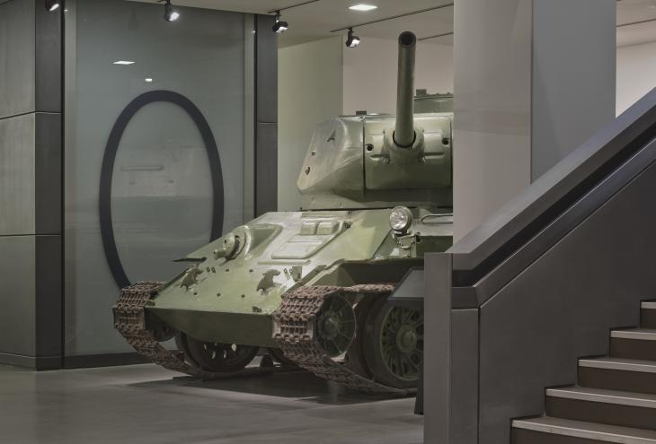T-34 Tank in IWM London's Atrium.