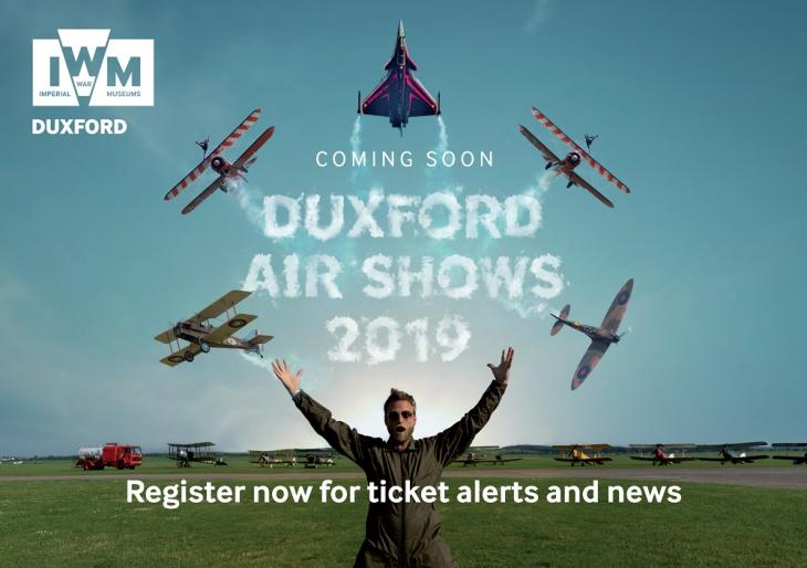 2019 Duxford Air Shows teaser advert