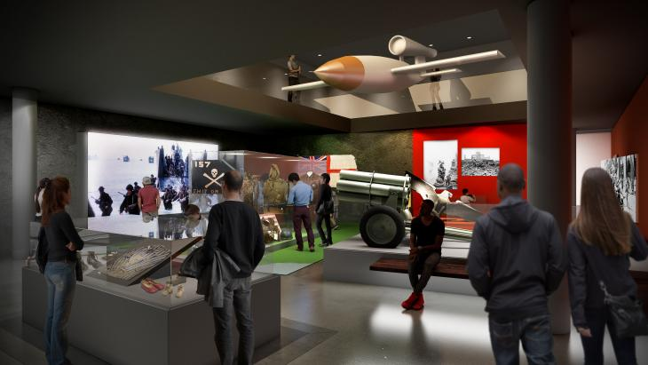 IWM concept image of the new Second World War and Holocaust galleries