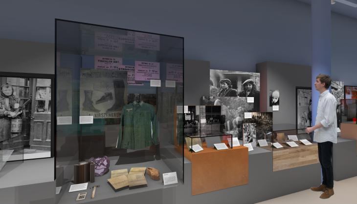Concept image of the forthcoming Holocaust gallery