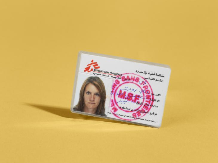 © IWM MSF identity card issued to Dr Natalie Roberts in 2015, when she was the Emergency Coordinator for MSF's response in Yemen.