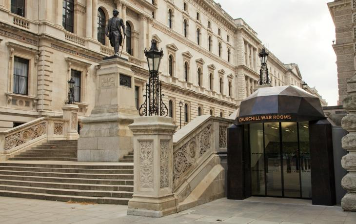 Exterior of Churchill War Rooms, Imperial War Museums