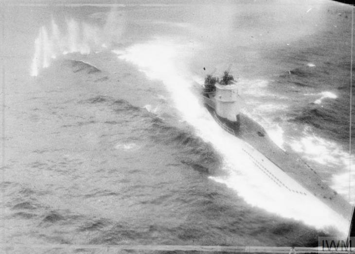 Photograph of the U boat attack