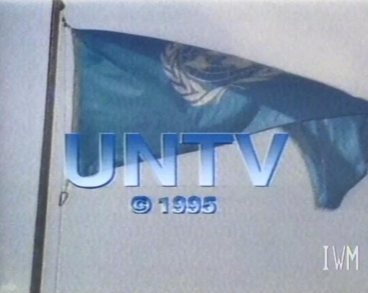 A screenshot from the titles of a United Nations Television programme