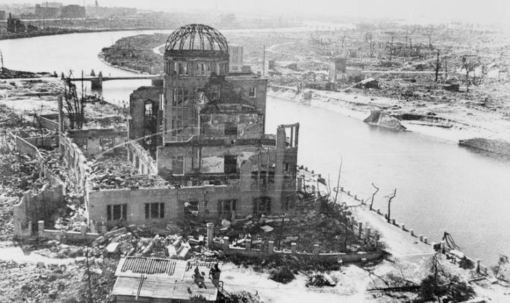 Hiroshima following the dropping of the atomic bomb on 6 August 1945