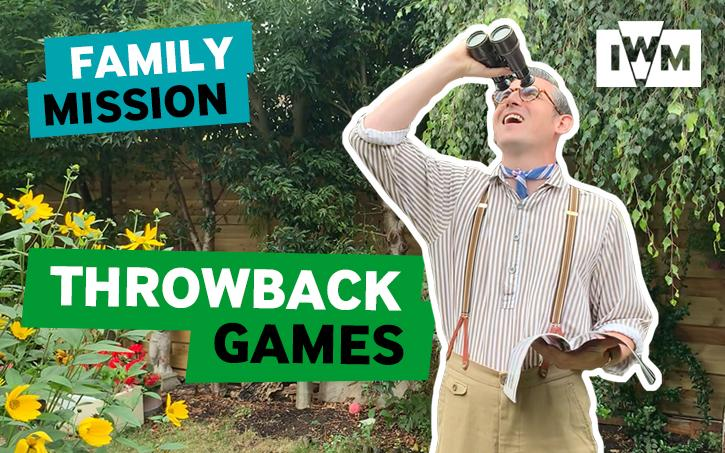 Poster image for IWM's Family Mission: Throwback Games