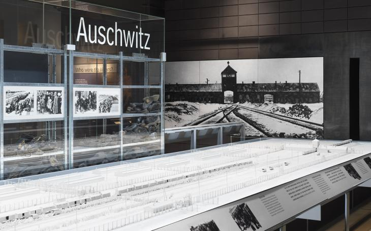 Holocaust Exhibition showing model of Auschwitz
